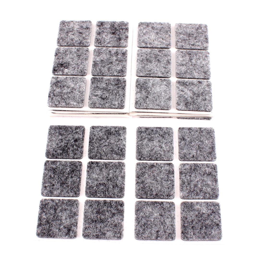 Furniture Feet Anti Skid Self-adhesive Felt Floor Protector 60 Pcs