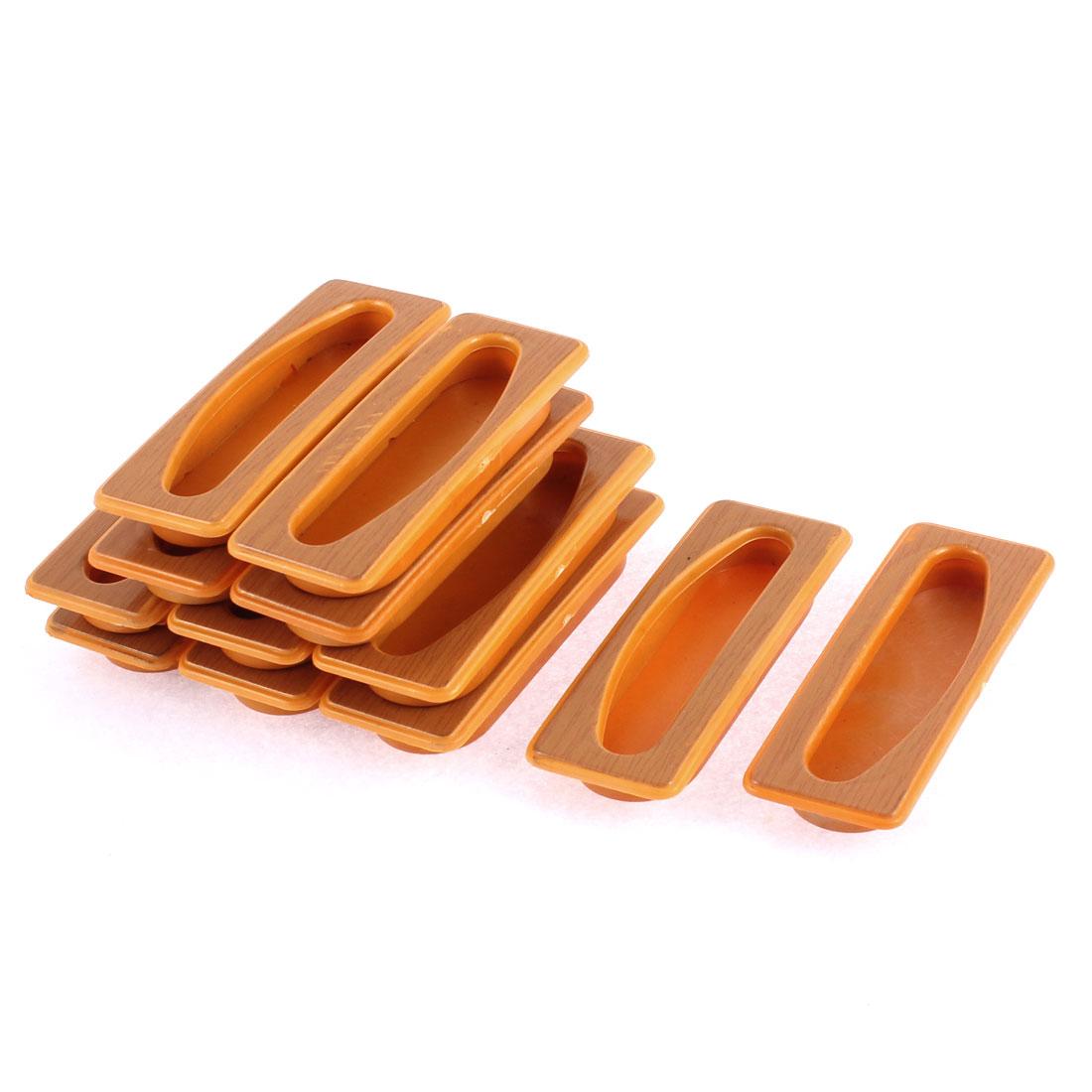 Furniture Cupboard Plastic Recessed Flush Pull Handle 12pcs