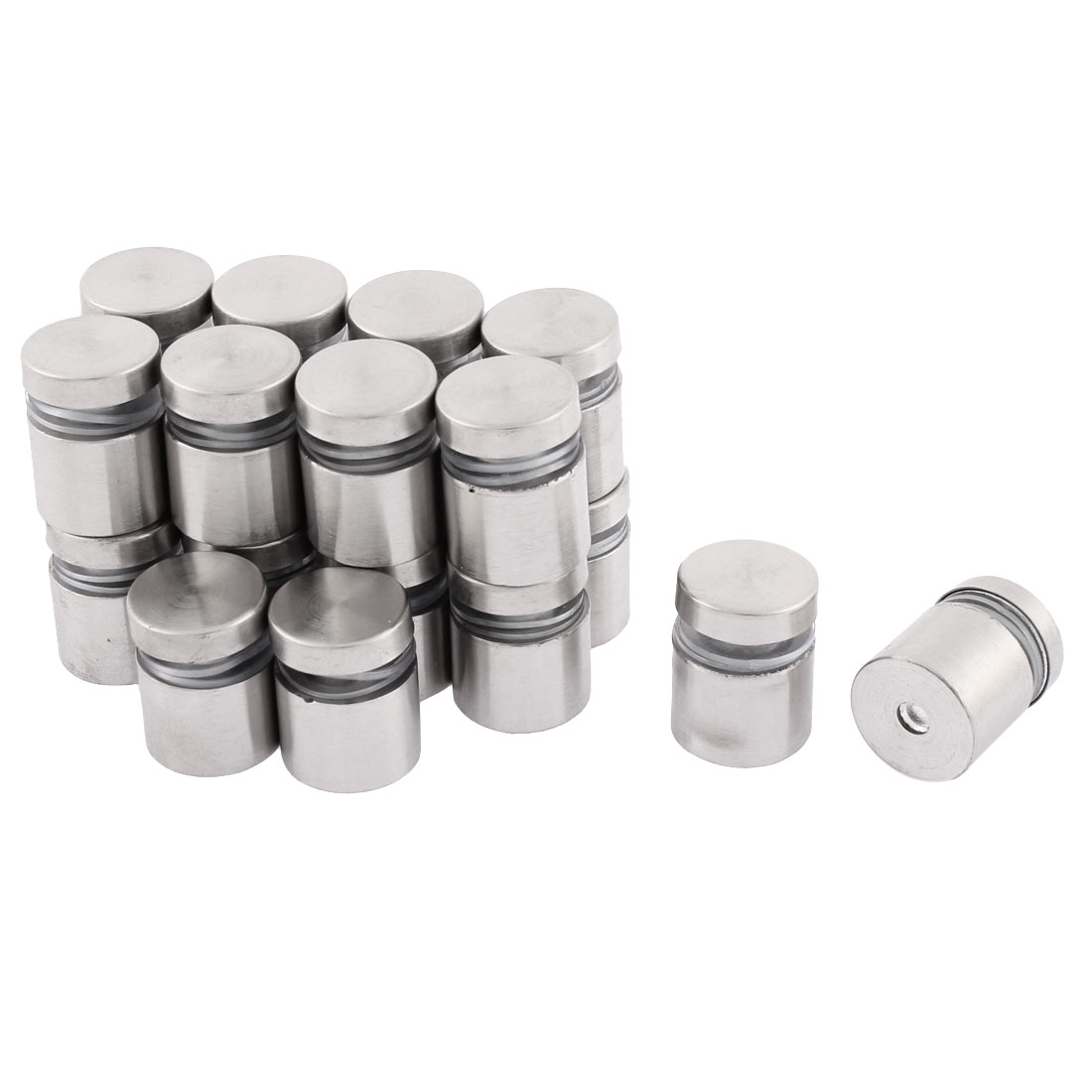 19 x 24mm Stainless Steel Wall Connector Standoff Hardware 20PCS for Glass