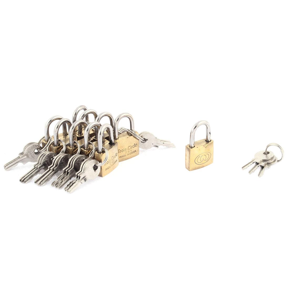 Cabinet Jewlery Box Suitcase Security Lock Padlock 10pcs