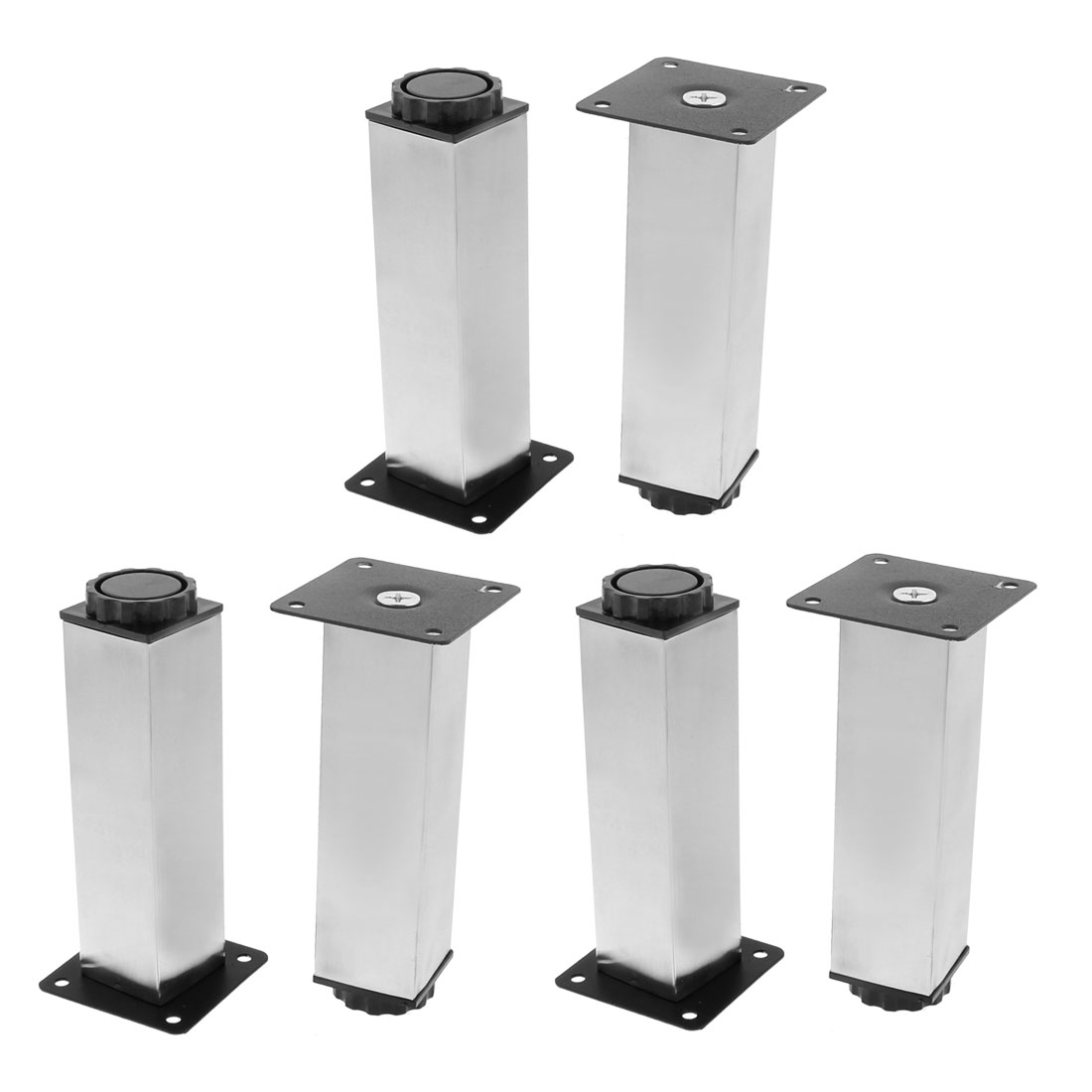 Kitchen Cabinet Support Adjustable Plinth Leg 38mm x 150mm 6pcs