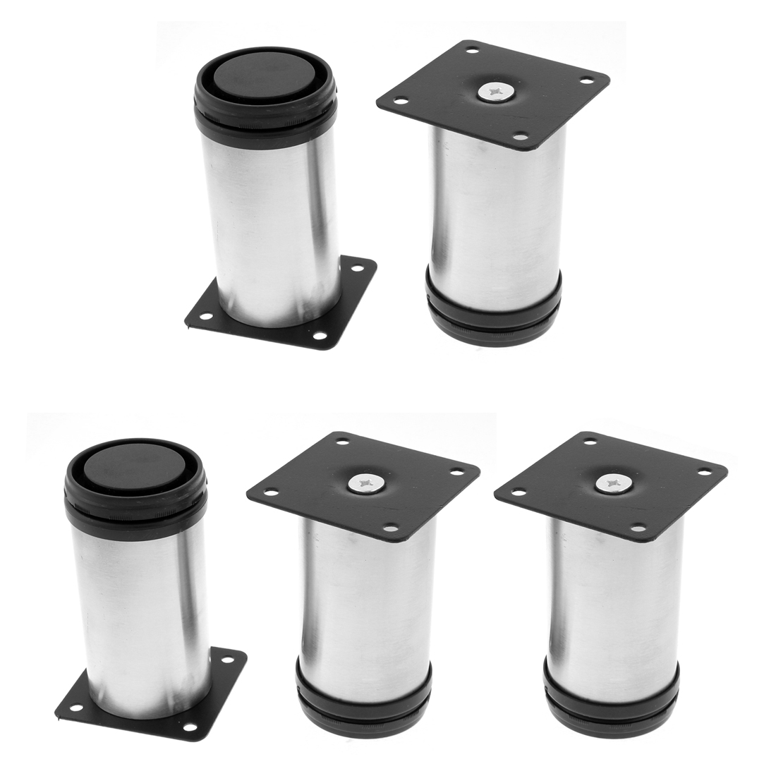 Kitchen Furniture Sofa Cabinet Cylinder Adjustable Plinth Leg 50 x 100mm 5pcs