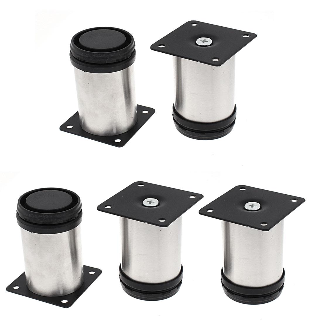 Kitchen Furniture Cabinet Adjustable Feet Leg 50 x 80mm 5pcs