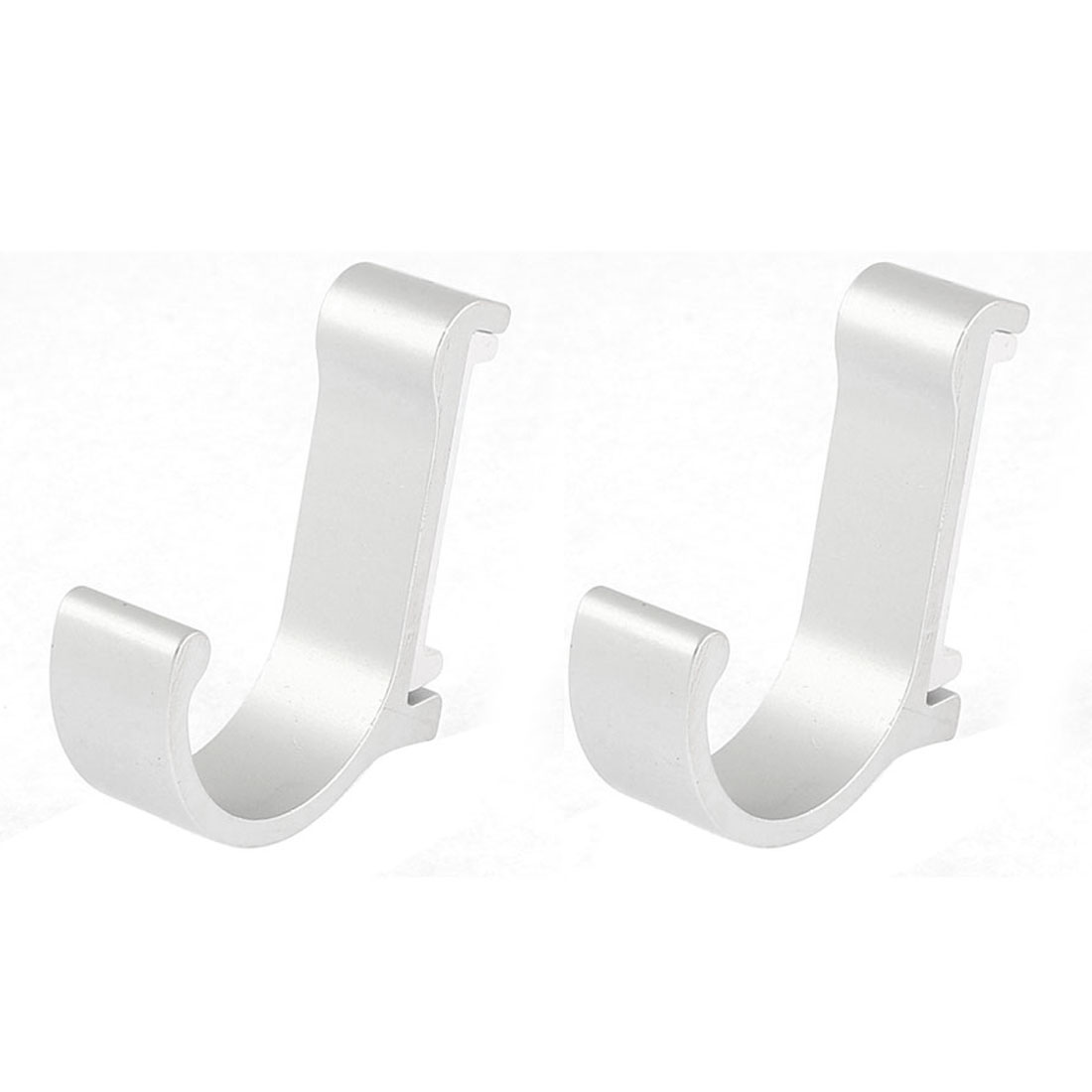 Bathroom Bedroom Wall Mounted Clothes Coat Bath Towel Hanger Hook Silver Tone 2pcs