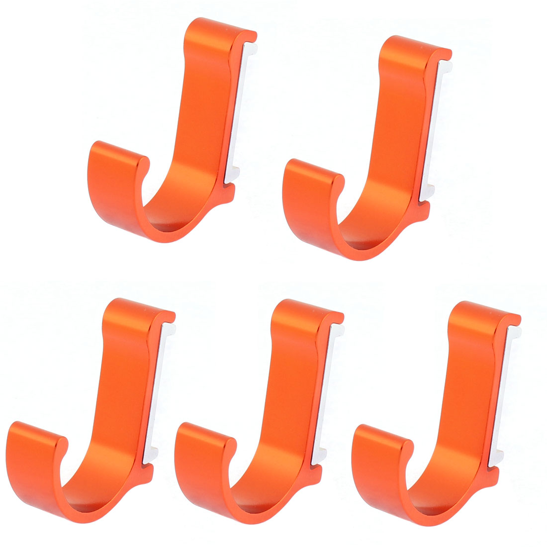 Kitchen Bedroom Wall Mount Clothes Towel Bags Hanger Hooks Orange Red 5pcs