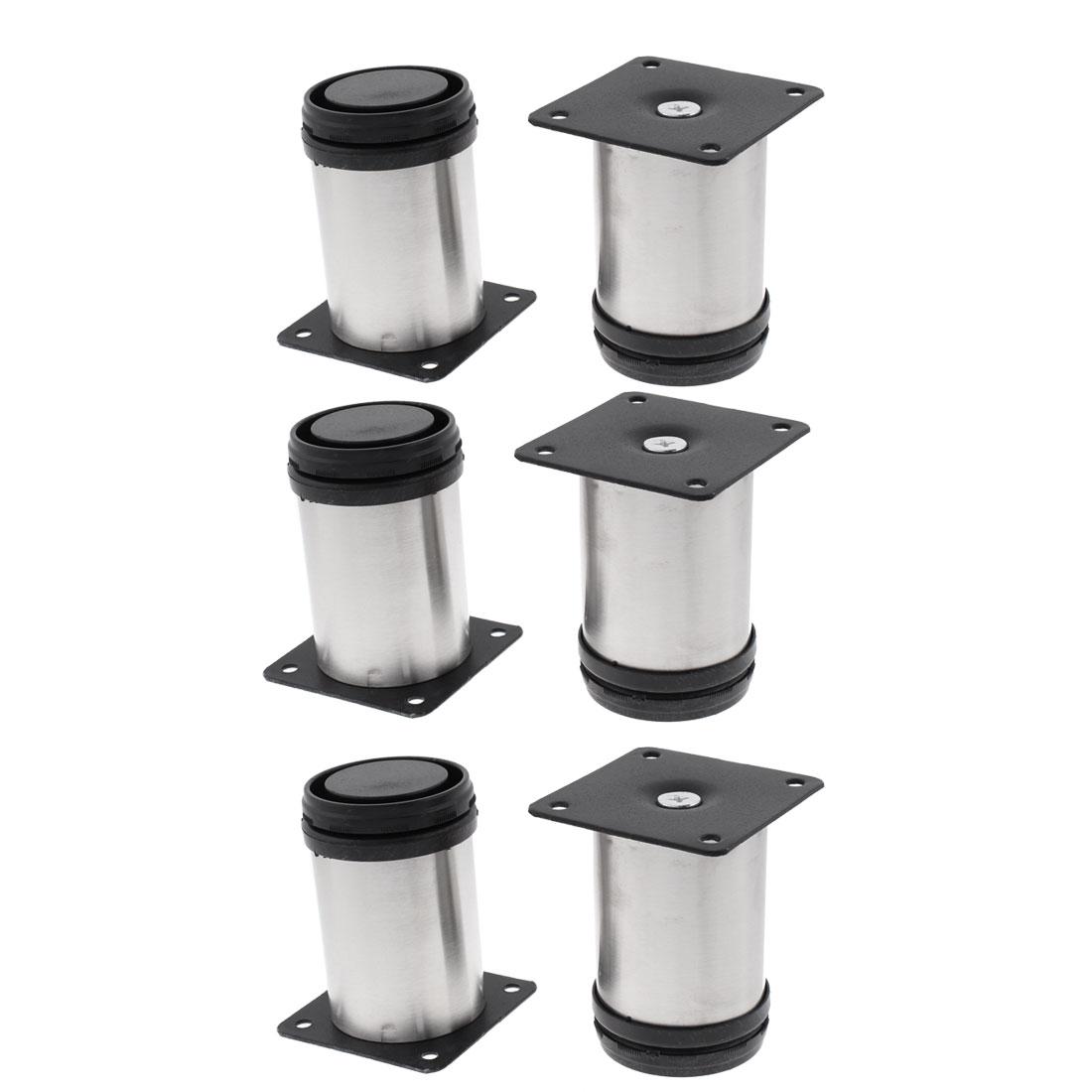 Kitchen Furniture Sofa Cabinet Adjustable Plinth Leg 50mm x 80mm 6pcs