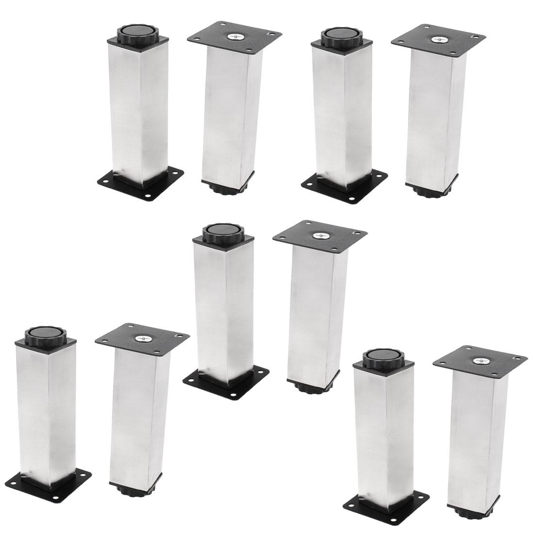Kitchen Furniture Cabinet Square Adjustable Plinth Leg Feet 38 x 150mm 10pcs