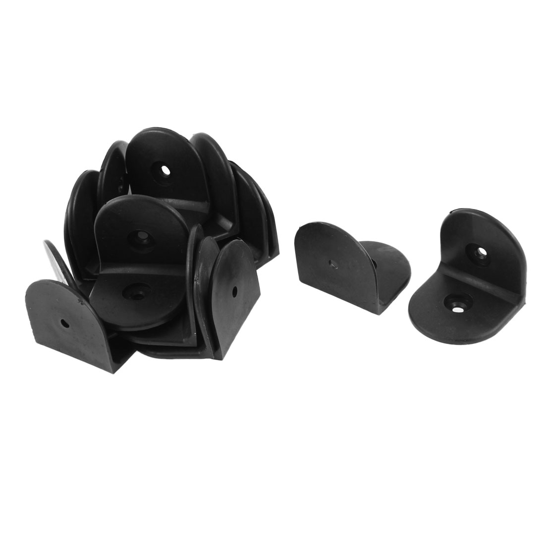 Plastic Corner Brace Joint Right Angle Bracket Black 51 x 51 x 52mm 15pcs