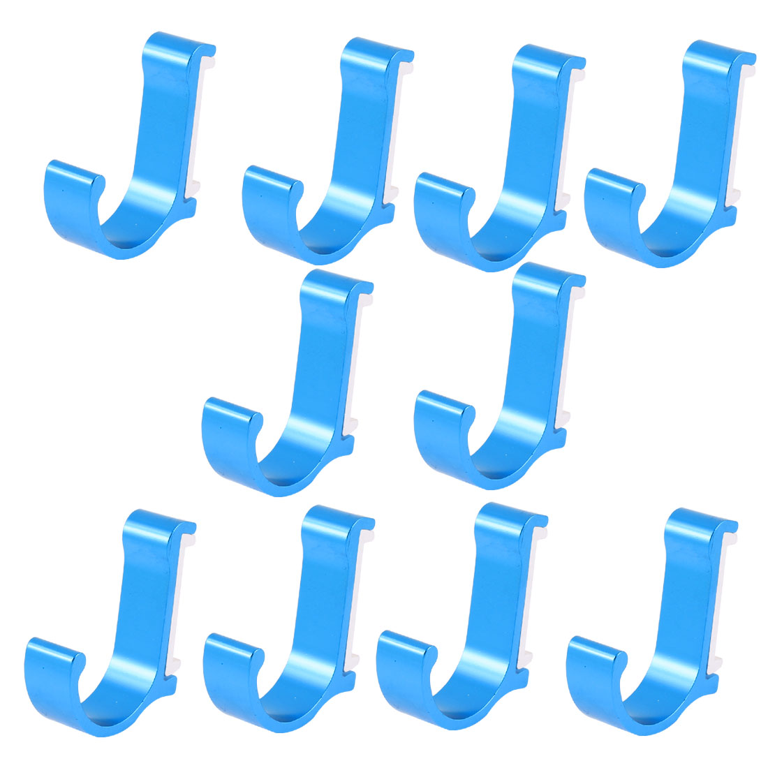 Bedroom Kitchen Clothes Hat Aluminum Wall Hanging Hook Hanger Royal Blue 10pcs