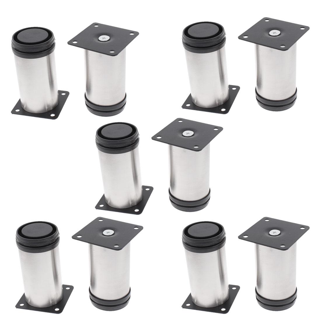 Furniture Kitchen Unit Cabinet Adjustable Leg Stand Feet Plinth 50 x 100mm 10pcs
