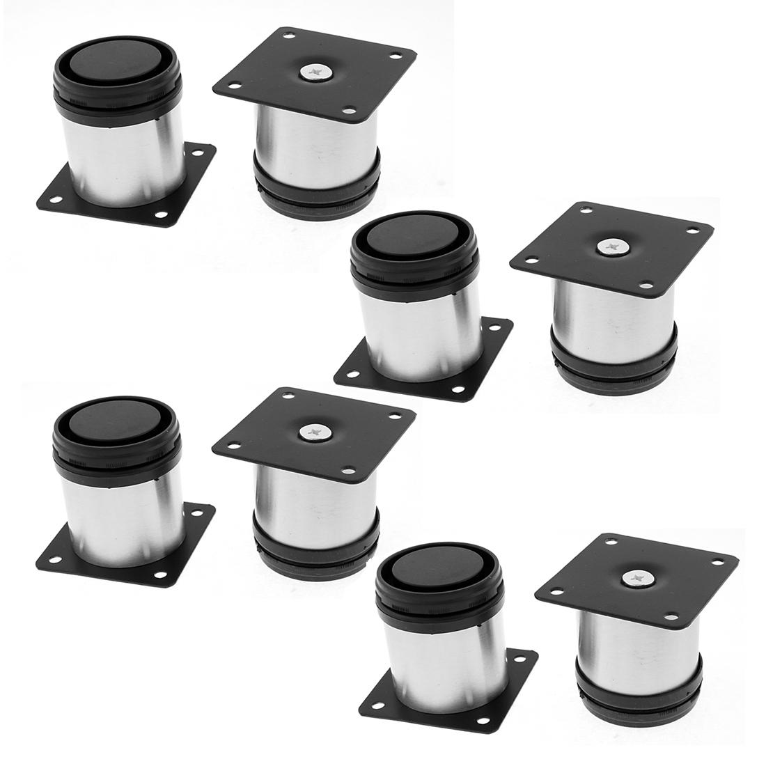 Furniture Cupboard Cabinet Adjustable Plinth Leg 50 x 60mm 8pcs