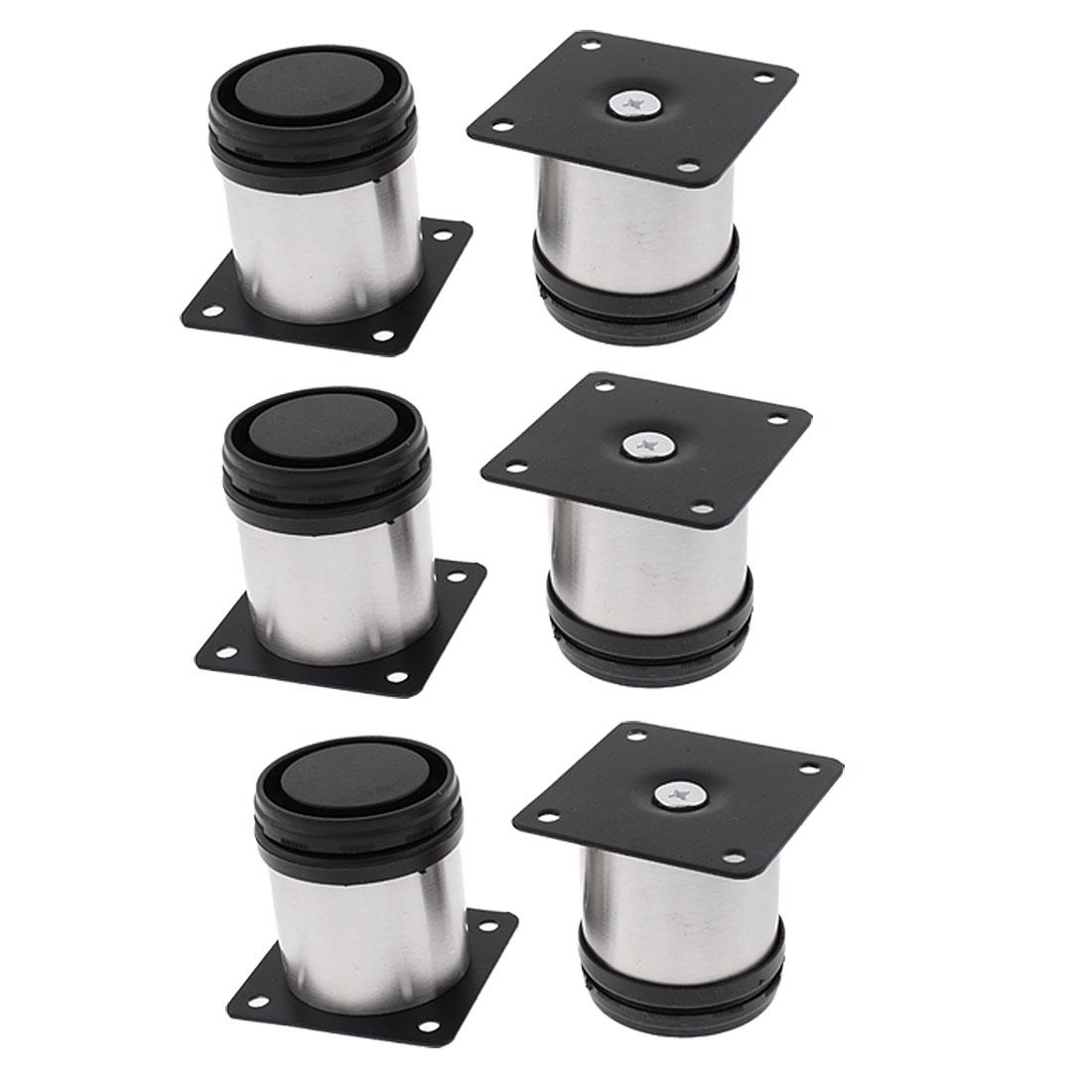 Furniture Cabinet Adjustable Plinth Stand Leg 50 x 60mm 6pcs