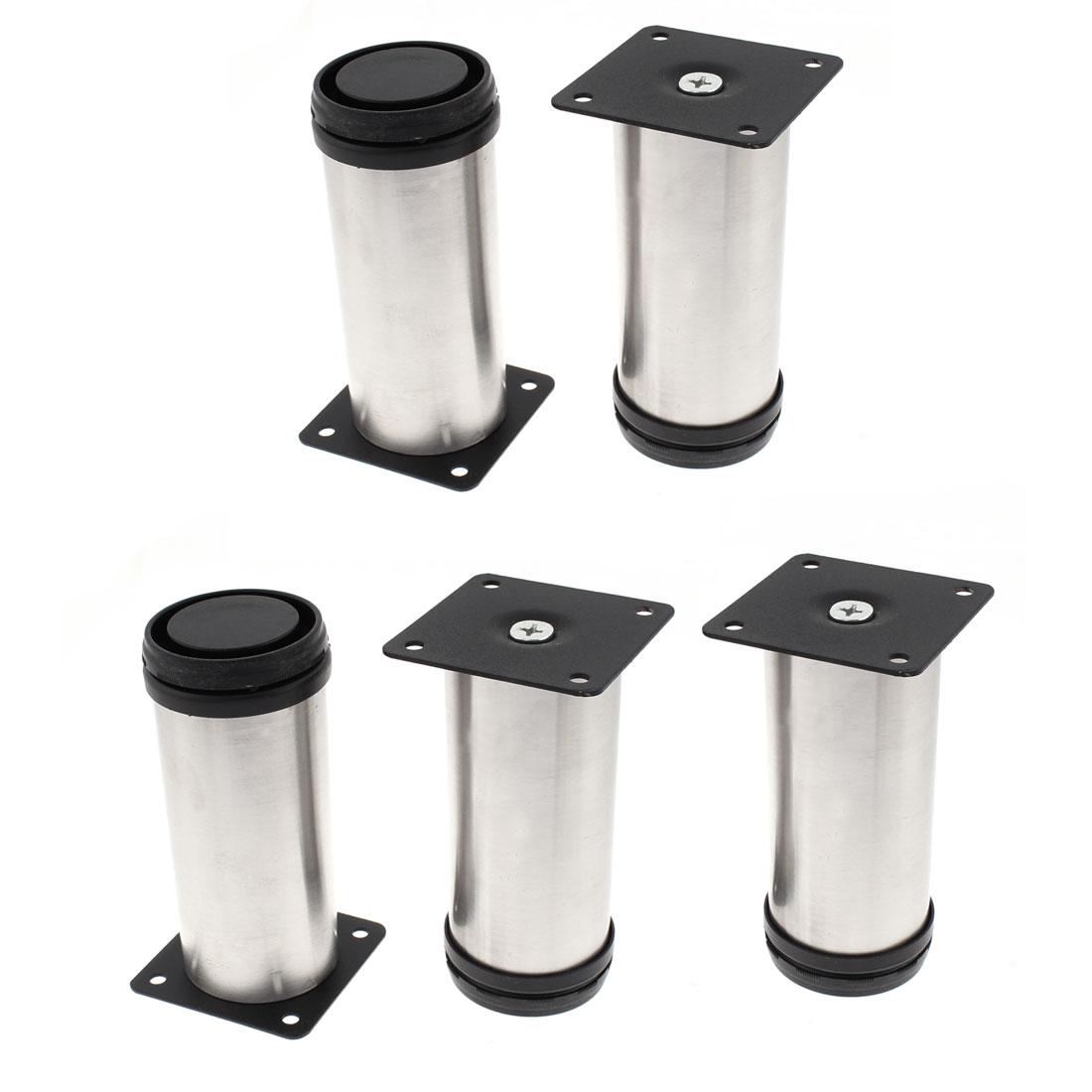 5pcs 50 x 120mm Adjustable Plinth Leg Feet for Kitchen Cabinet Sofa