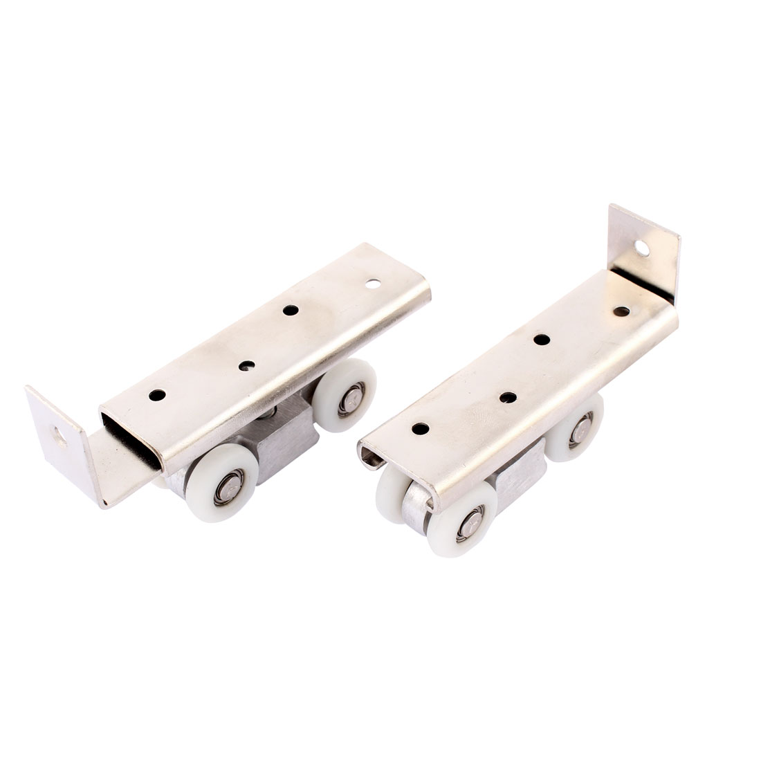 Bathroom Shower Window 4 Wheel Sliding Hanging Door Rollers White 2PCS