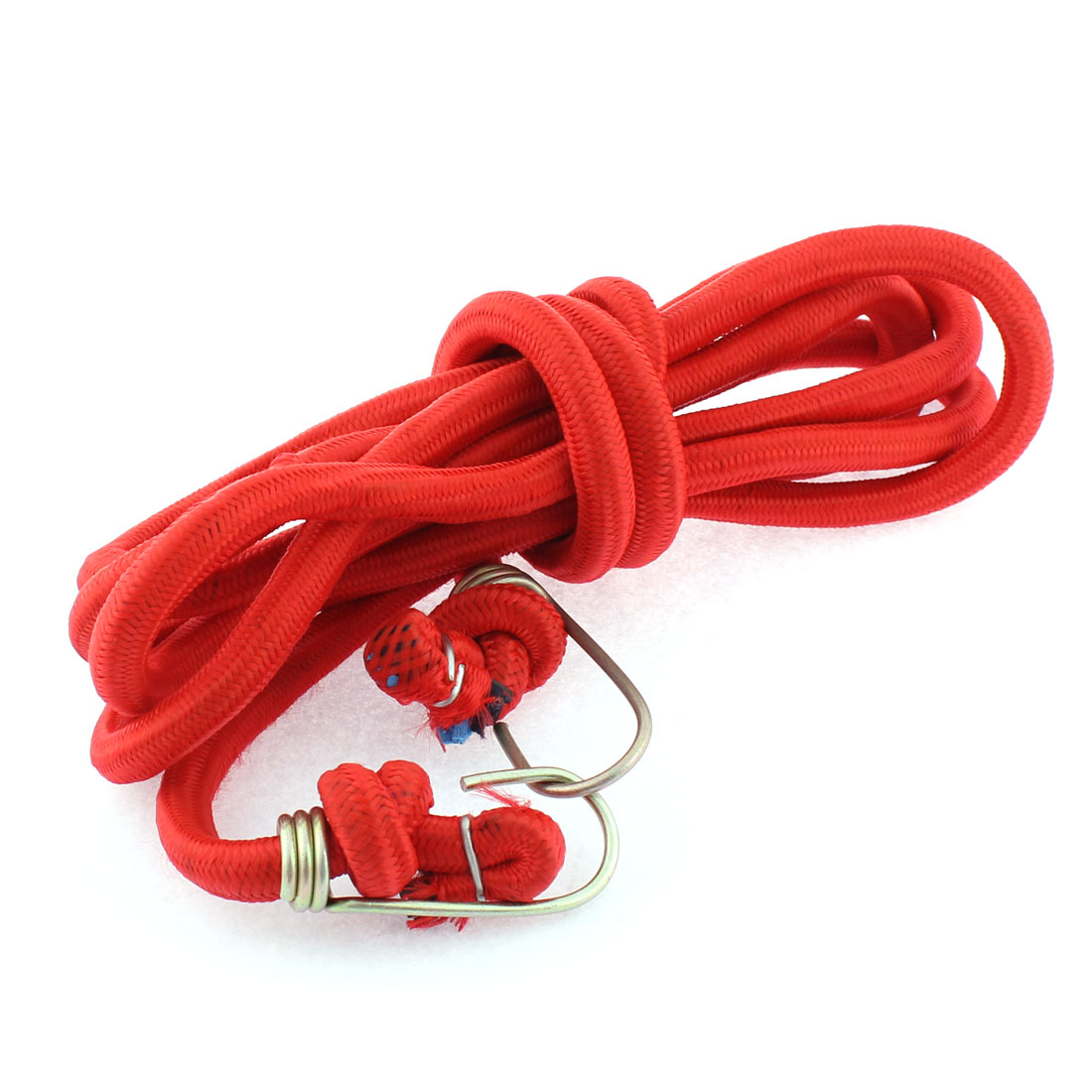 2.54m Long Metal Hook Flat Stretchy Bike Bicycle Luggage Cord Rope Red