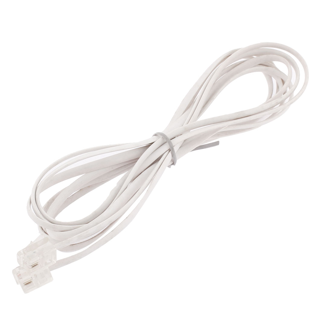 RJ11 to RJ11 Male to Male Telephone Cord Cable Connector White 2.5m Long