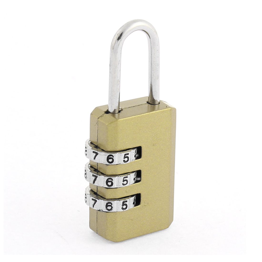 Suitcase Luggage Resettable Combination 3 Dial Metal Password Padlock