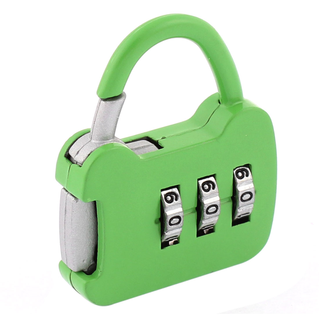 19mm x 16mm 3 Digits Metal Password Padlock Green for Tool Box Golf Case