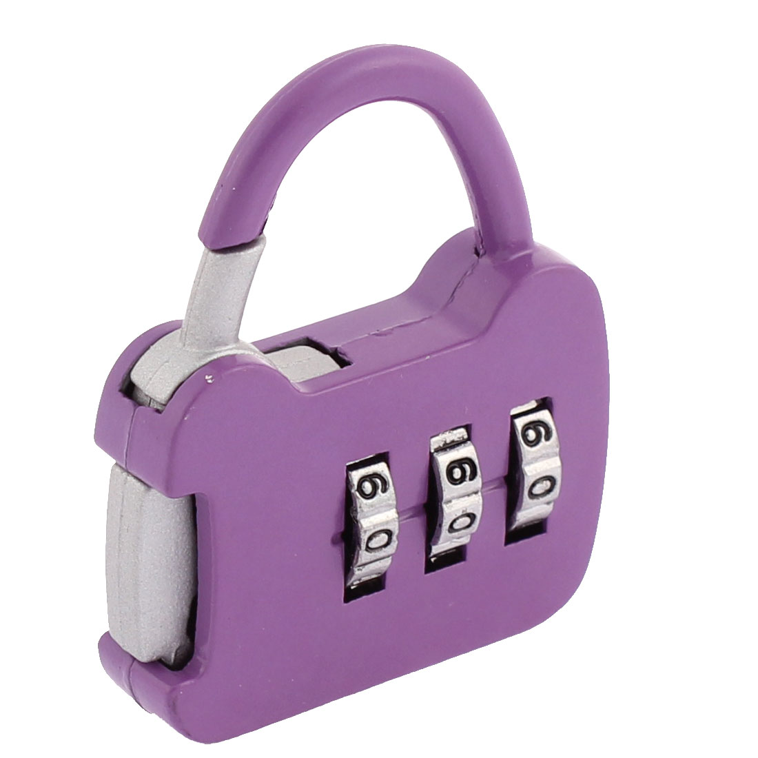 Luggage Suitcase Handbag Drawer 3 Digits Metal Password Padlock Purple