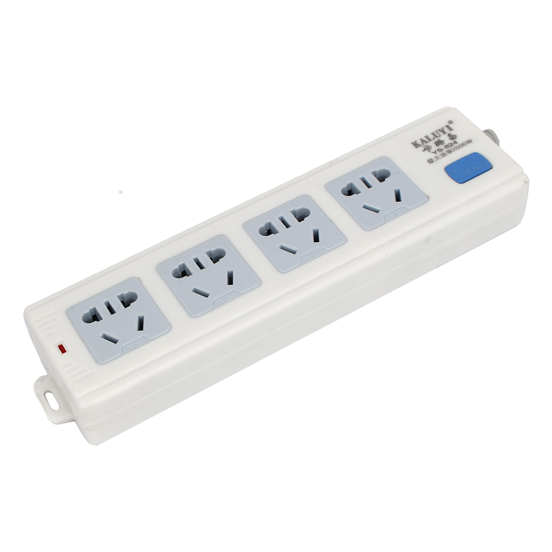 4 Position Rewirable Design Extension Socket Power Strip White AC 250V