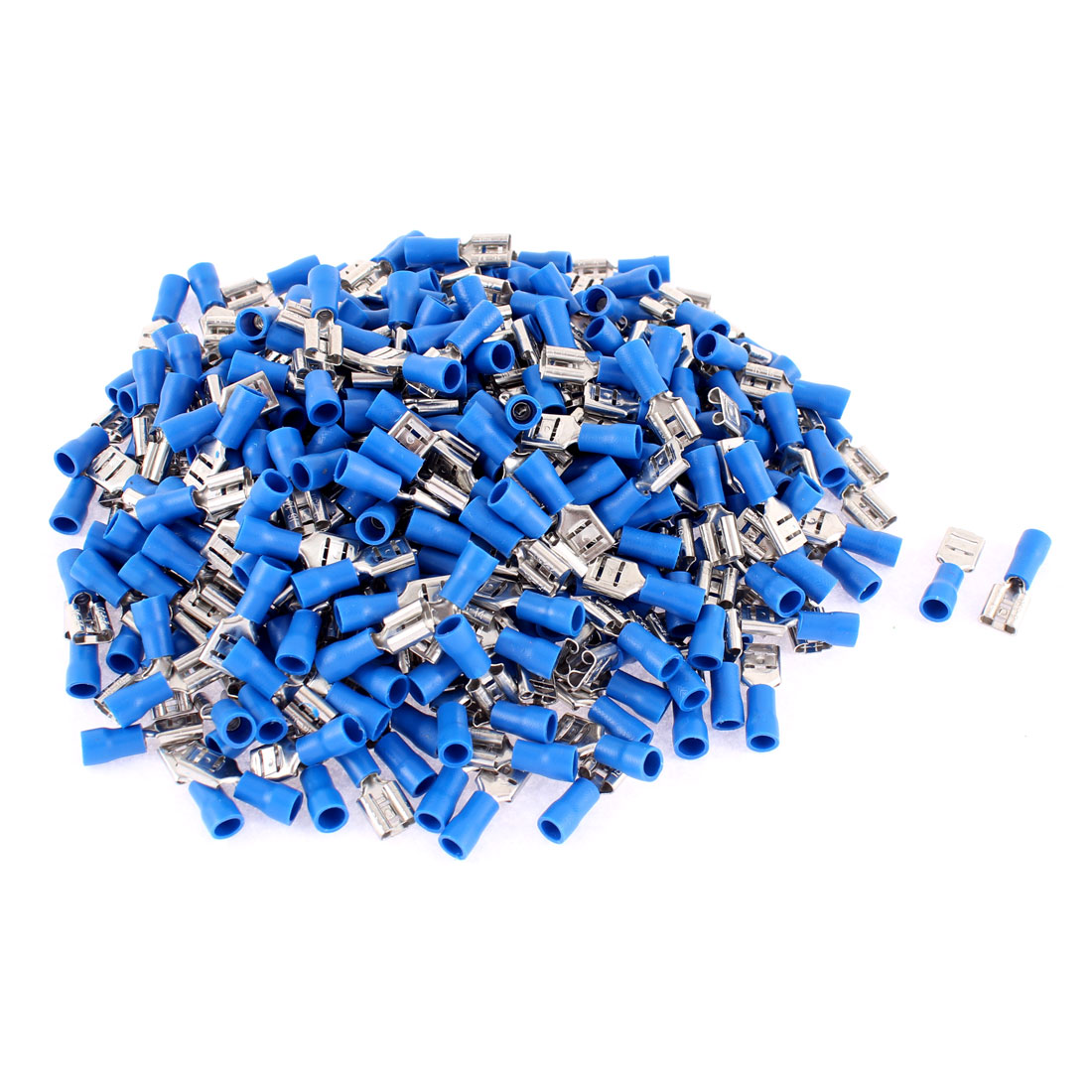 330pcs FDD2-250 AWG 16-14 1.5-2.5mm2 Wire Pre Insulated Wiring Terminal Cable Connector Blue