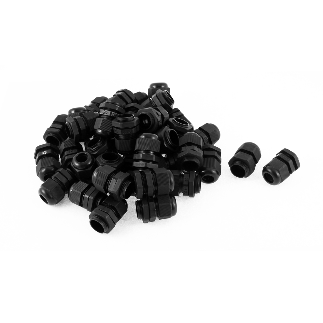 40Pcs PG11 18mm Thread Black Plastic Waterproof Cable Glands Connectors for 5-10mm Dia Wire