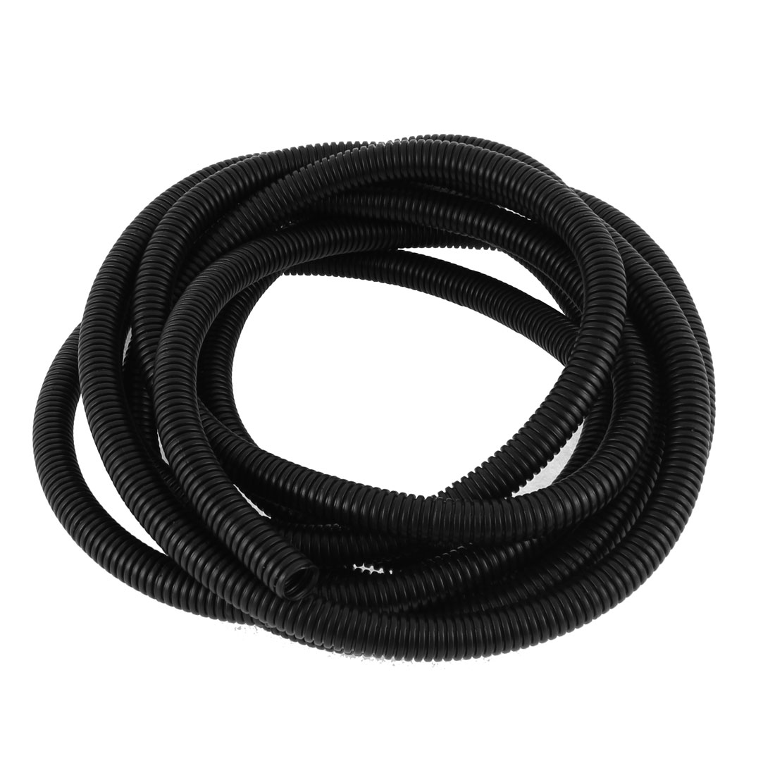 3.8M 12.5ft Long 13mm x 10mm Black PVC Flexible Corrugated Tubing Wire Cable Conduit Tube Pipe