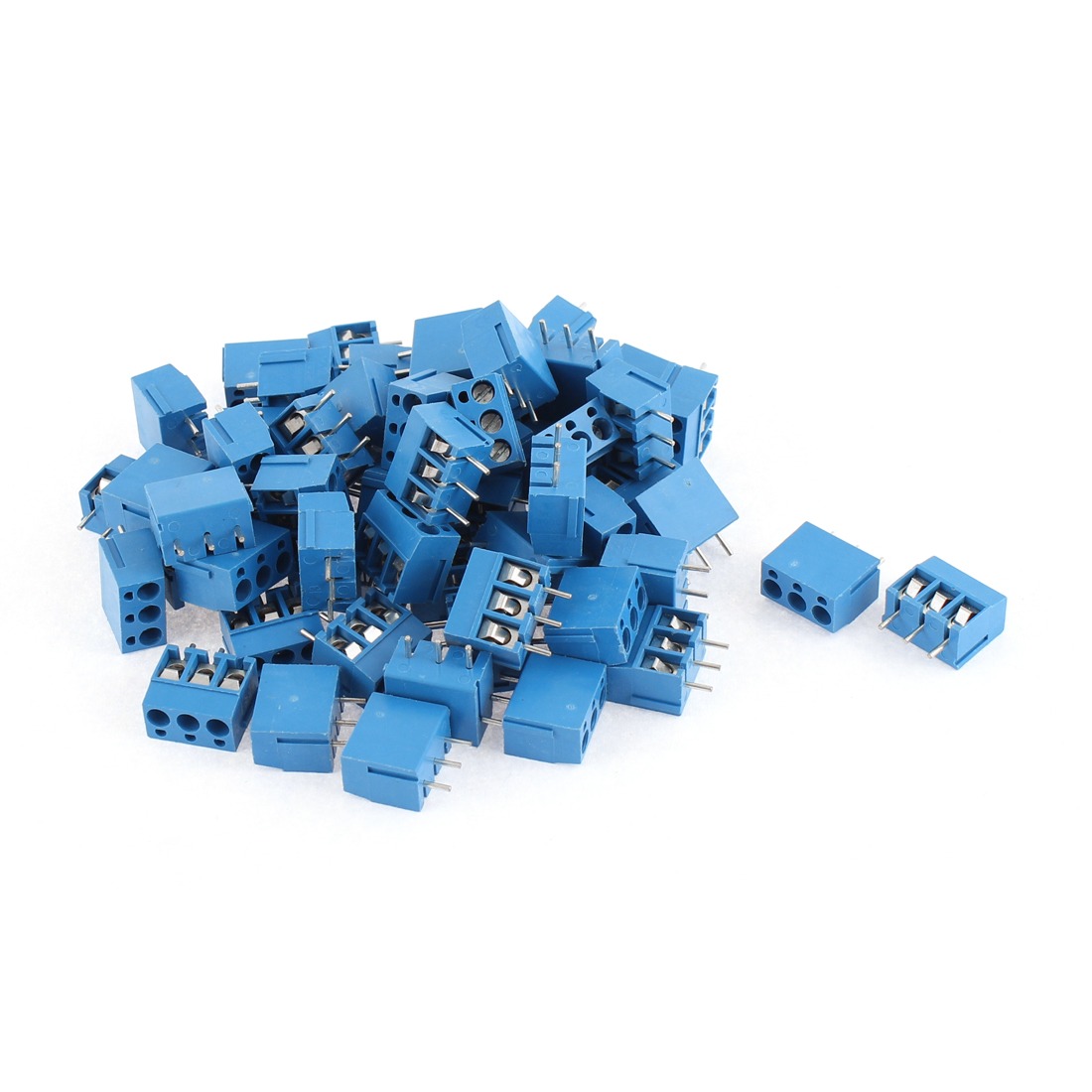 58pcs 300V 10A 3 Position 5.0mm Pitch Pluggable PCB Screw Terminal Block Cable Connector for AWG14-22 Wire