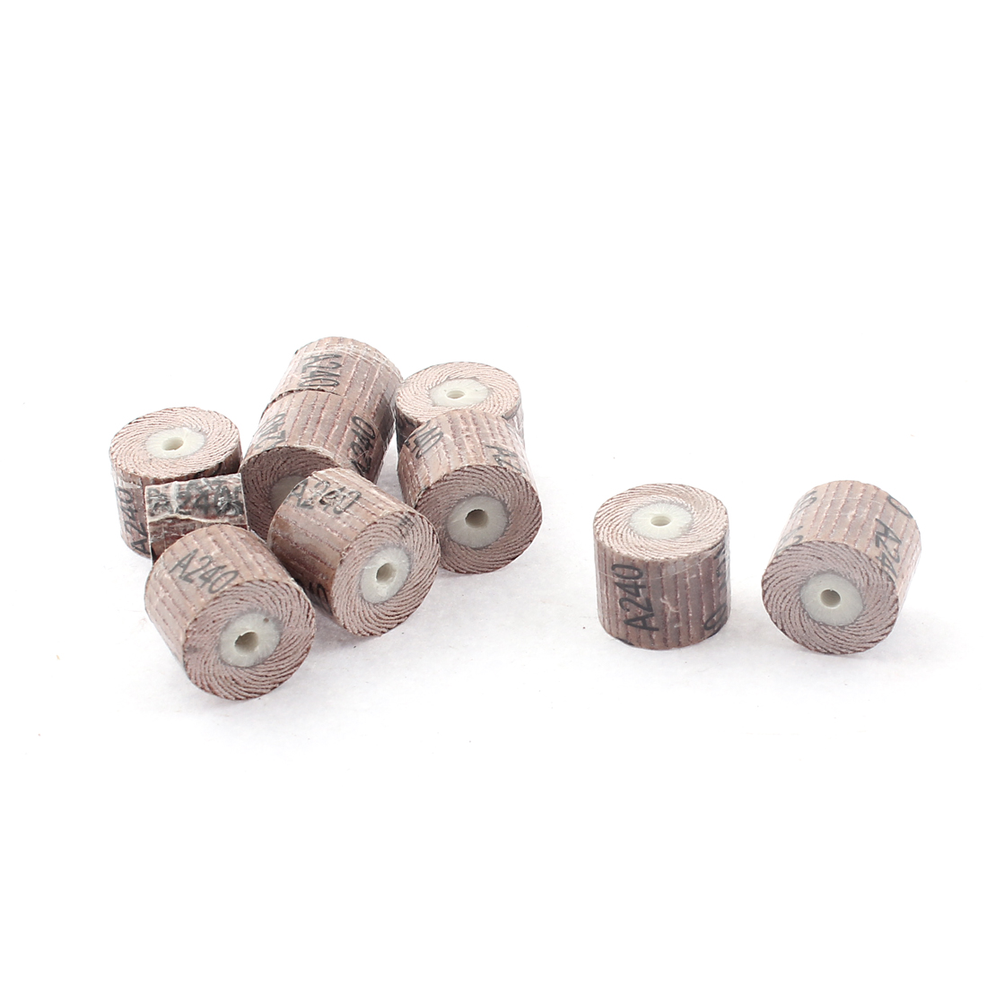 10pcs Wooden Core Fiber Abrasives Grinding Wheel Roller 16mmx2.5mmx12mm