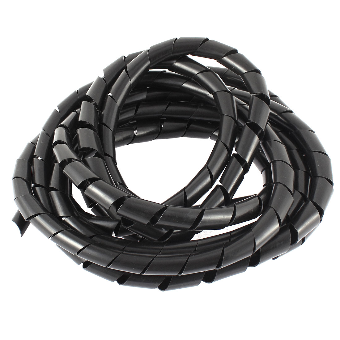 4M 13ft Long 13mm x 11mm Black Flexible Wire Spiral Wrap Sleeving Band Tube Cable Manager Protector