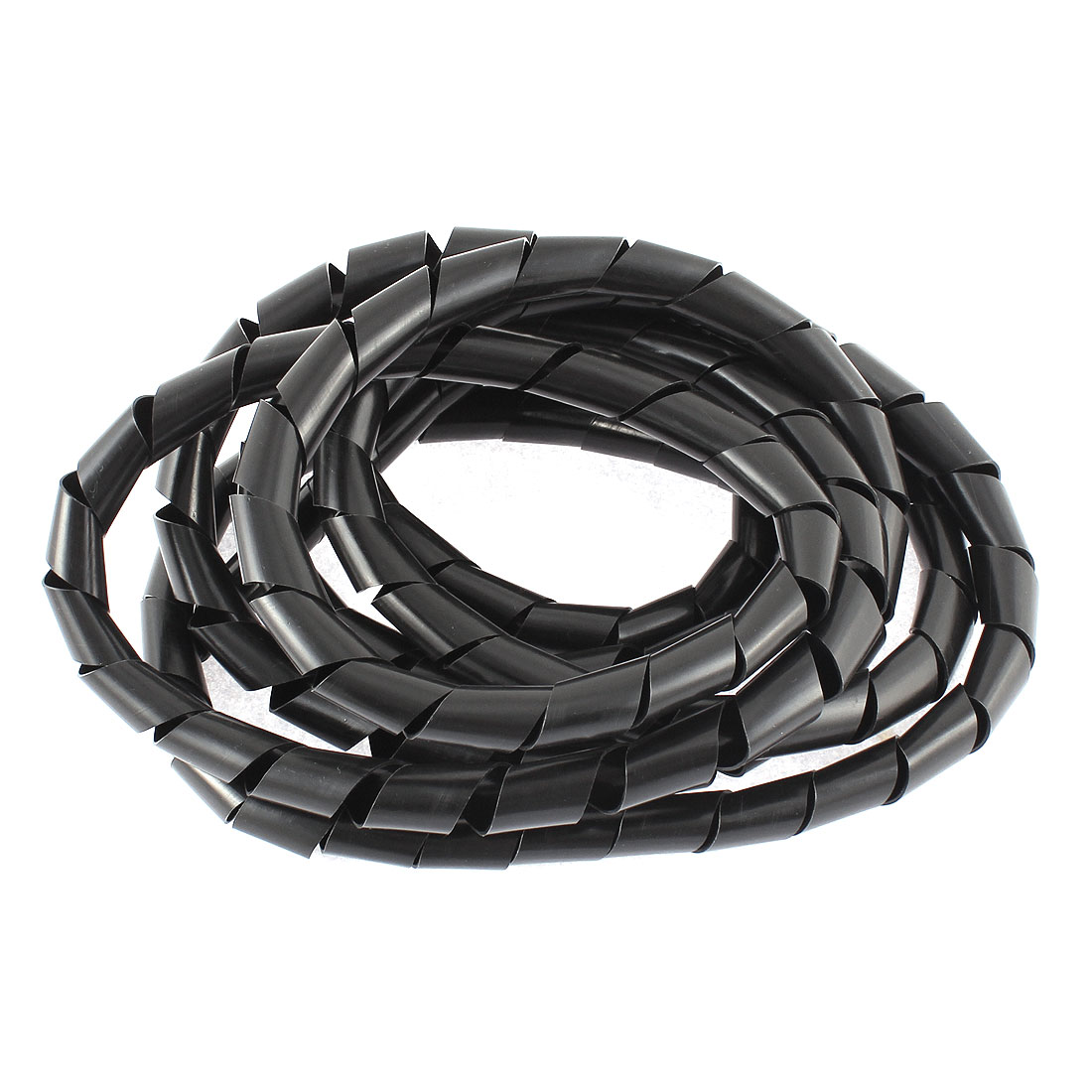 3 Meters 10ft Long 9mm x 7mm Black Flexible Wire Spiral Wrap Sleeving Band Tube Cable Manager Protector