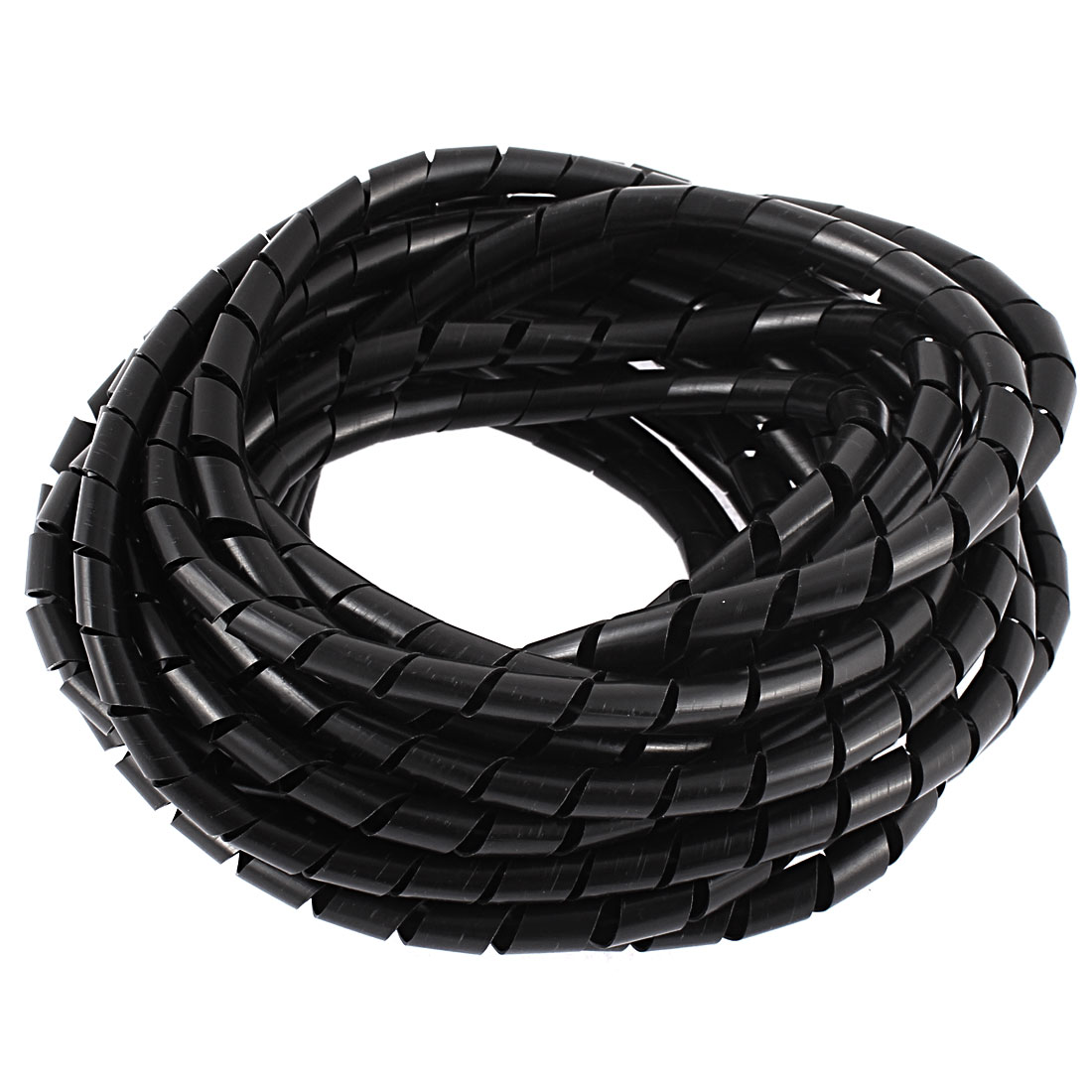 8Meters 25ft Long 8mm Black Flexible Wire Spiral Wrap Sleeving Band Tube Cable Manager Protector