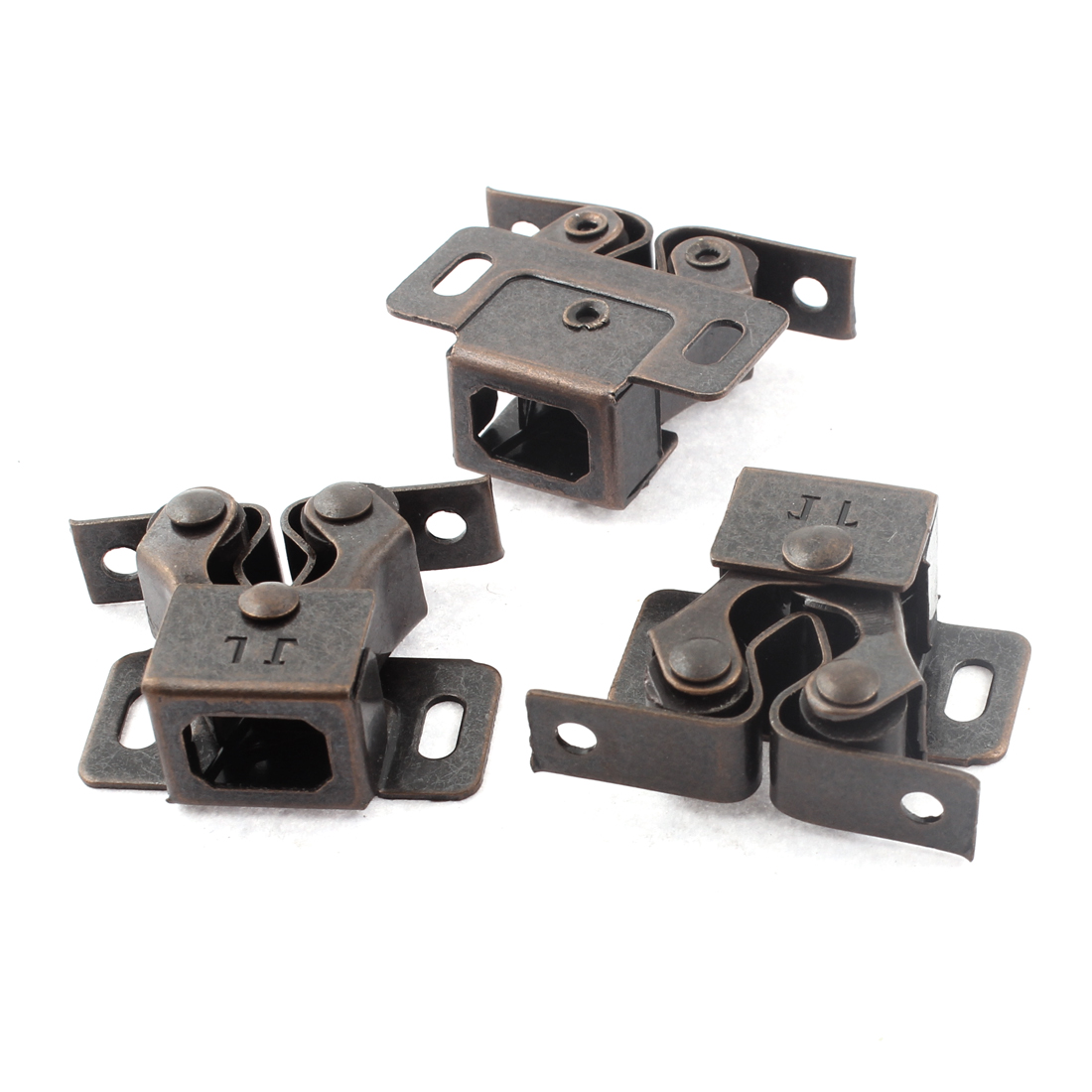 3pcs Retro Style Metal Furniture Cabinet Door Window Magnetic Catch Stop Stopper Latch Holder