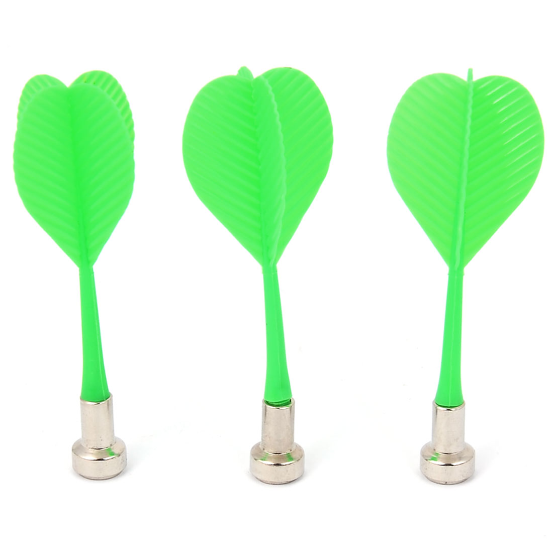 Dartboard Game Plastic Handle Magnetic Flat Tip Safety Dart 3 Pcs Green