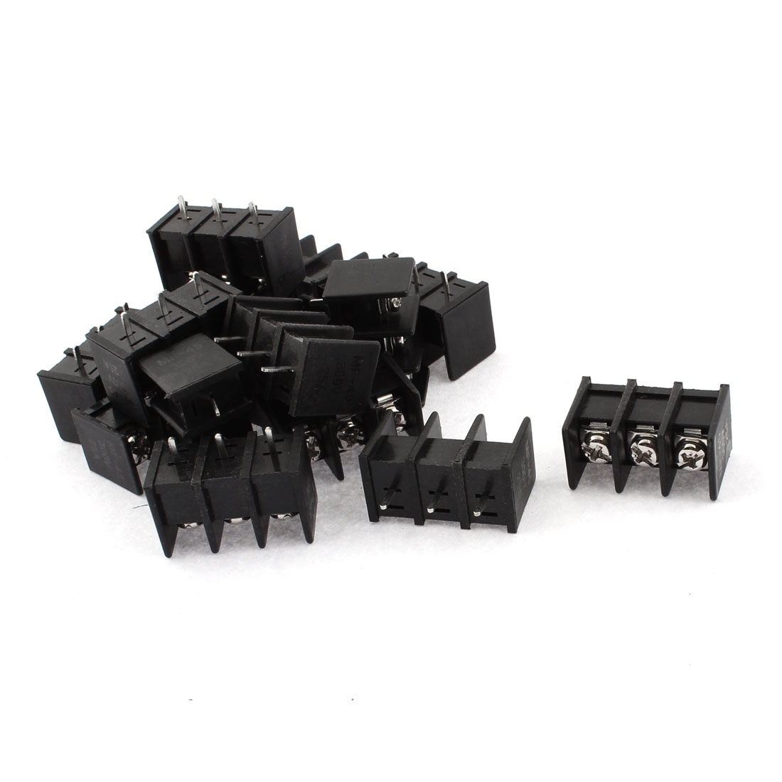 300V 25A 3 Positions 8mm Pitch PCB Mount Screw Terminal Block Connector 15pcs
