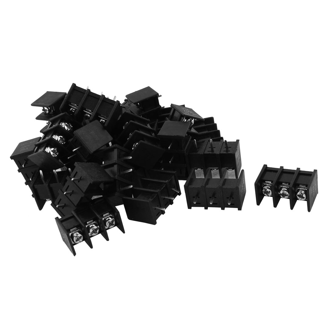 300V 25A 3 Positions 8mm Pitch PCB Mount Screw Terminal Block Connector 30pcs