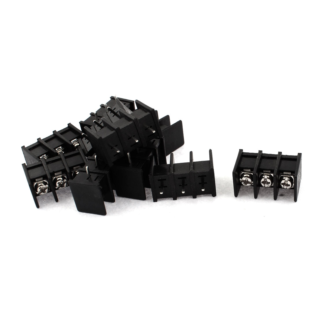 300V 25A 3 Positions 8mm Pitch PCB Mount Screw Terminal Block Connector 10pcs
