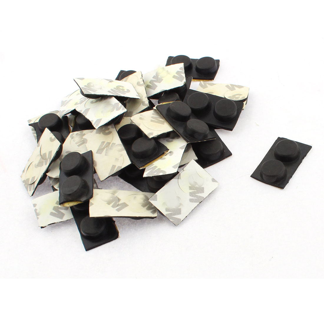 12mm Dia Rubber Self Adhesive Scratch Protection Furniture Floor Pad Black 72pcs