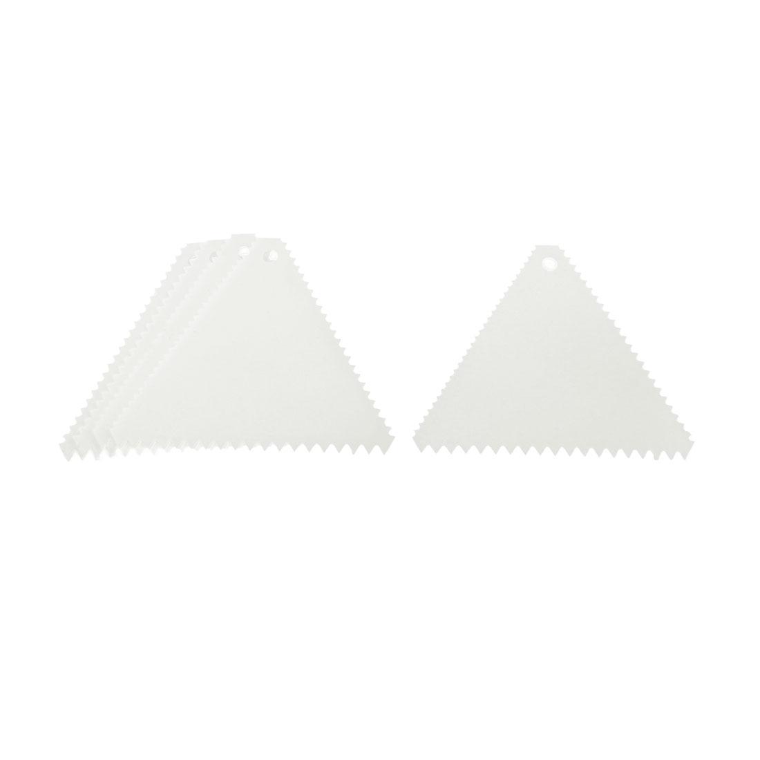 Cake Pizza Dough Edge Side Decorating Plastic Scraper Cutter Comb White 5pcs