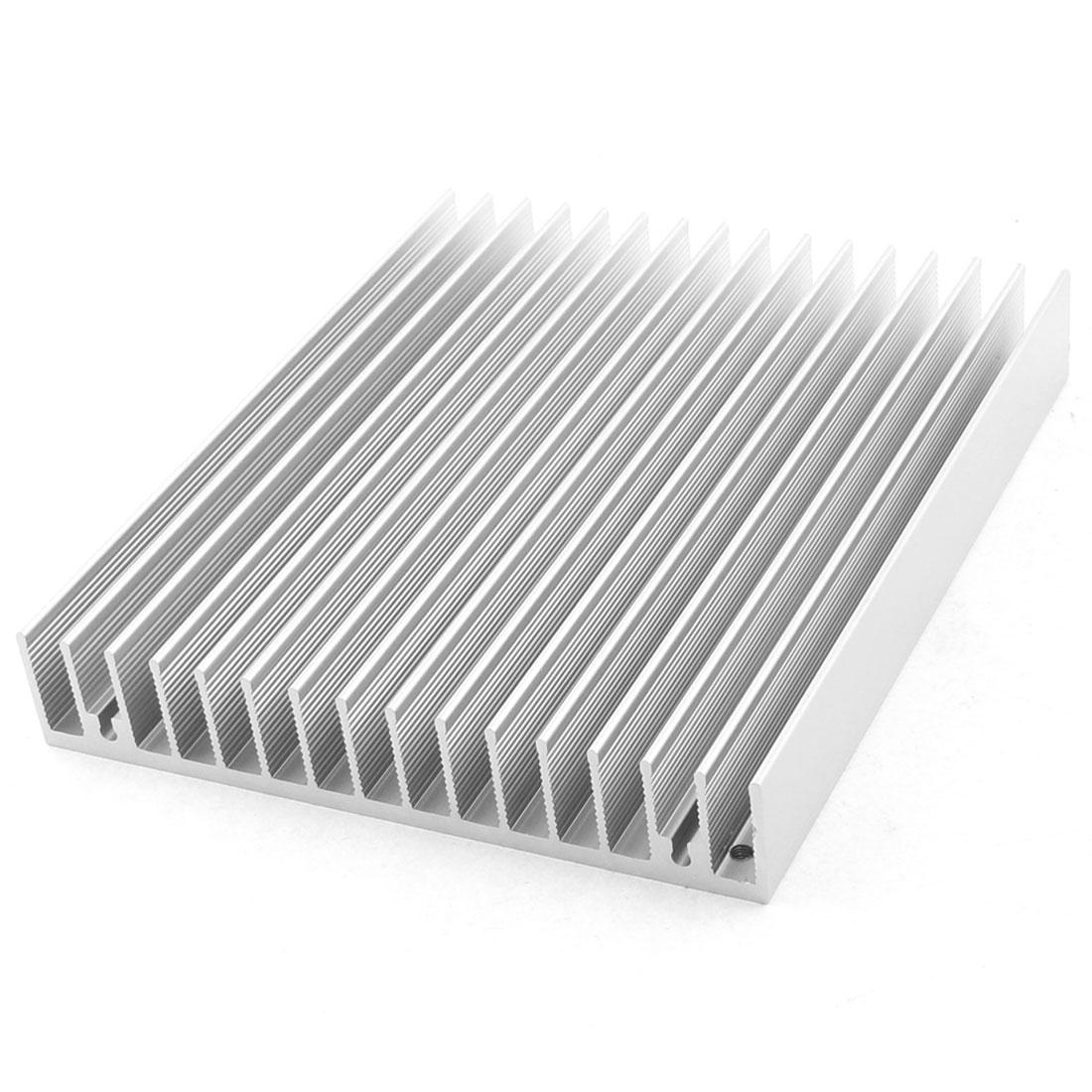 120mm x 100mm x 18mm Aluminum CPU Heat Sink Heatsink Cooling Fin Silver Tone