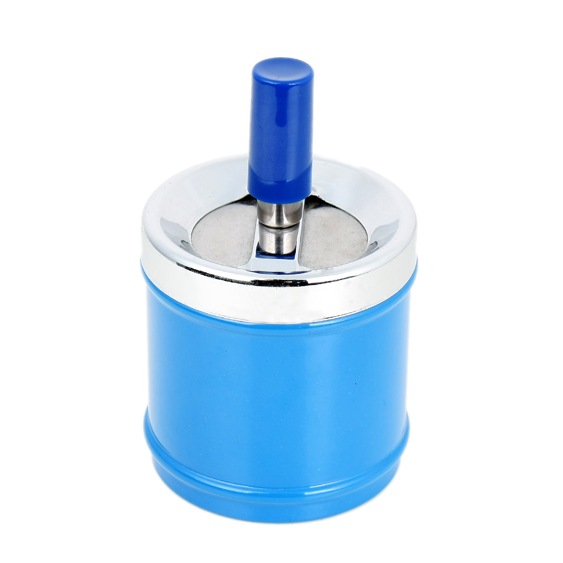 Household Metal Garbage Smoking Cigarette Organizer Container Ashtray Blue