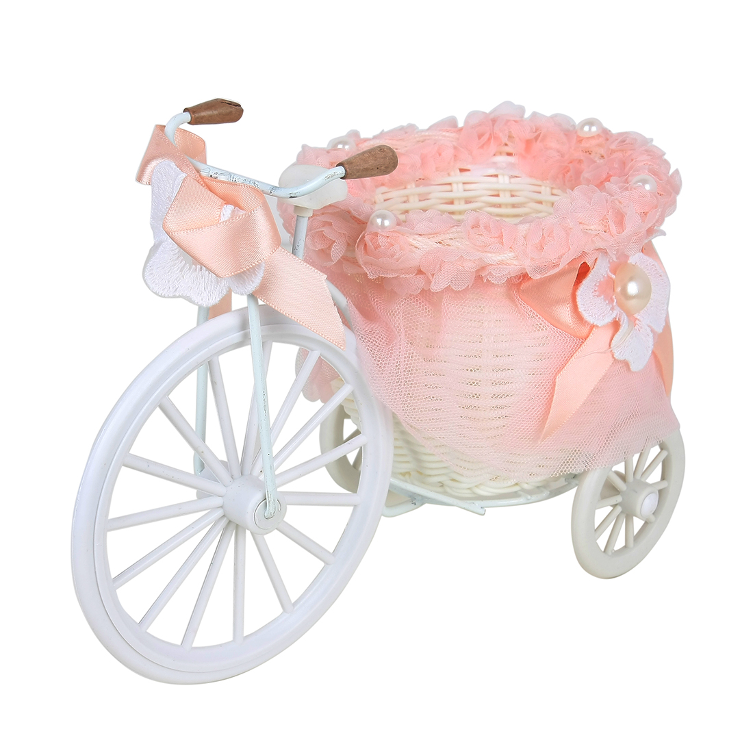 Household Bicycle Pattern Wild Weave Cloth Straw Basket