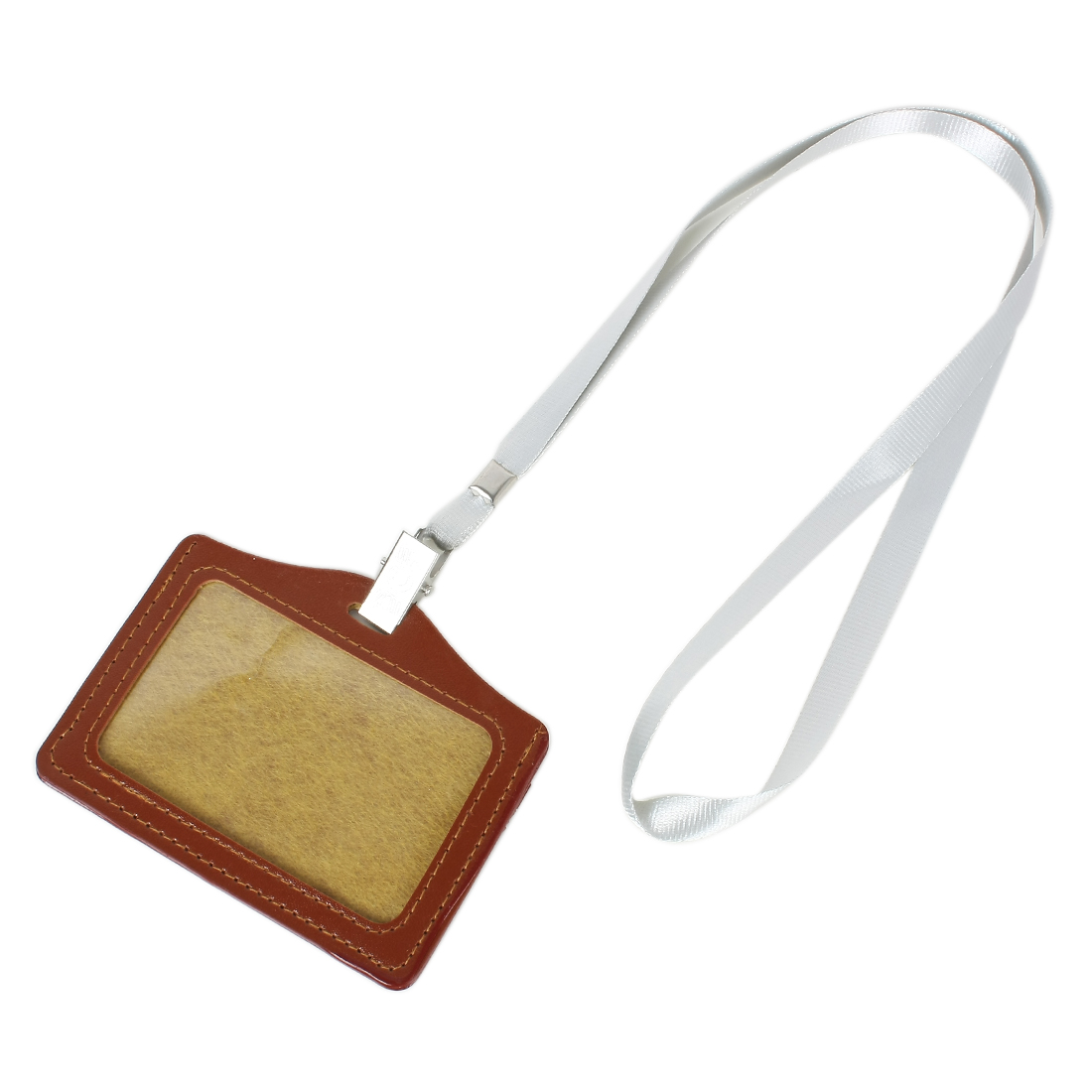 Business Badge Horizontal ID Card Holder w Neck Strap 1 Pc
