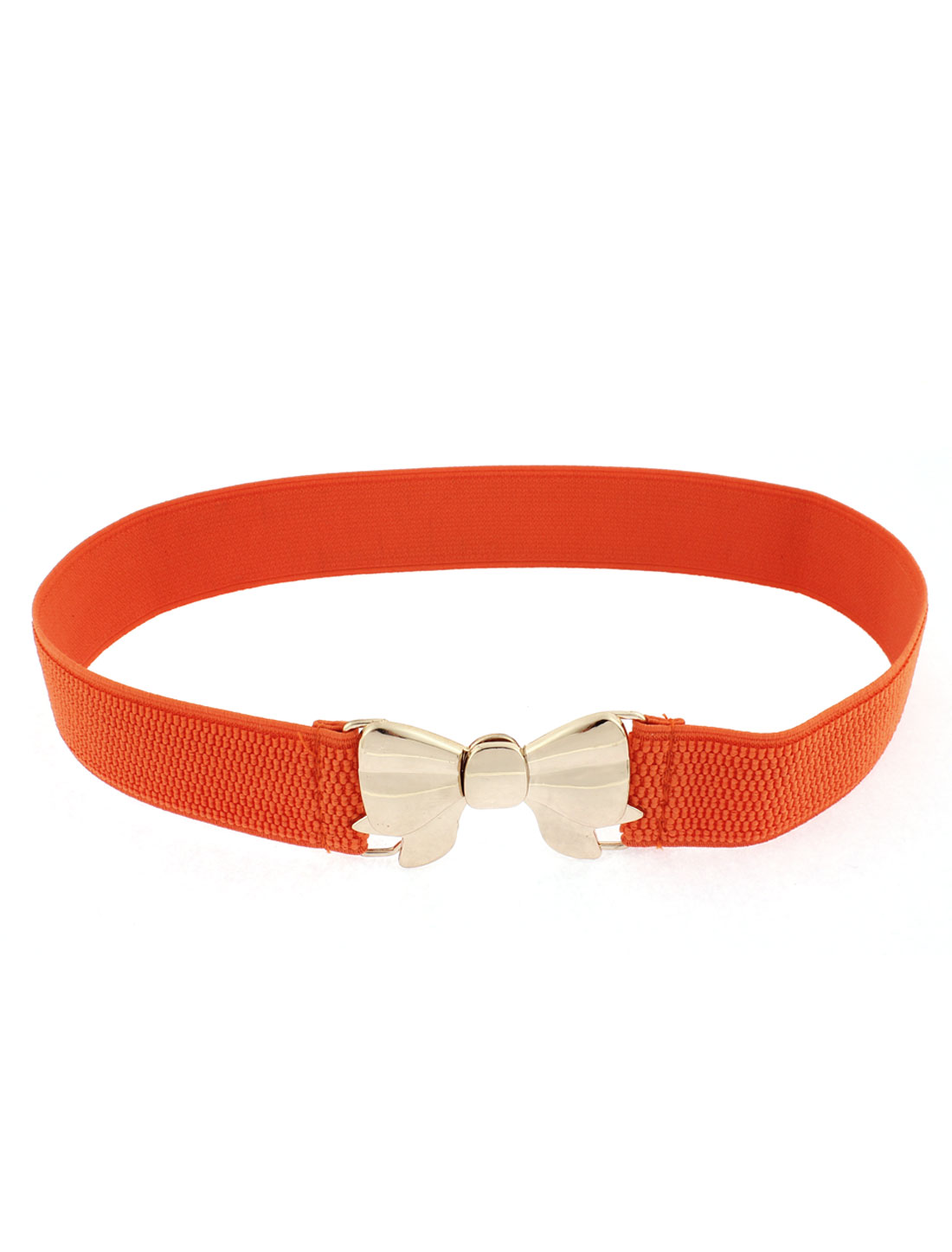 Interlocking Buckle Waist Belt Waistband Orange for Women