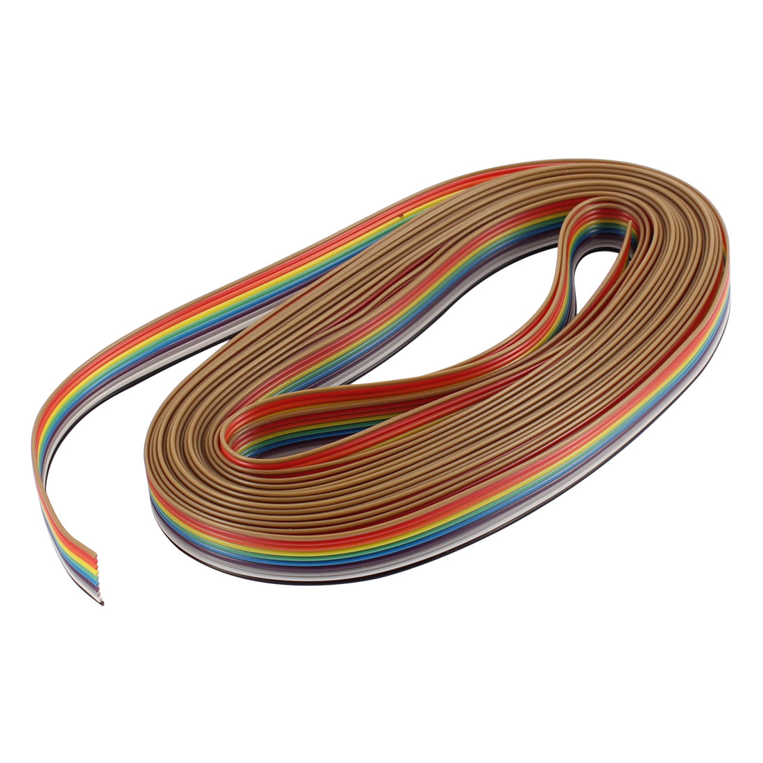 18Ft 10 Pin 1.27mm Pitch 12mm Wide IDC Ribbon Cable for ISP JTAG ARM