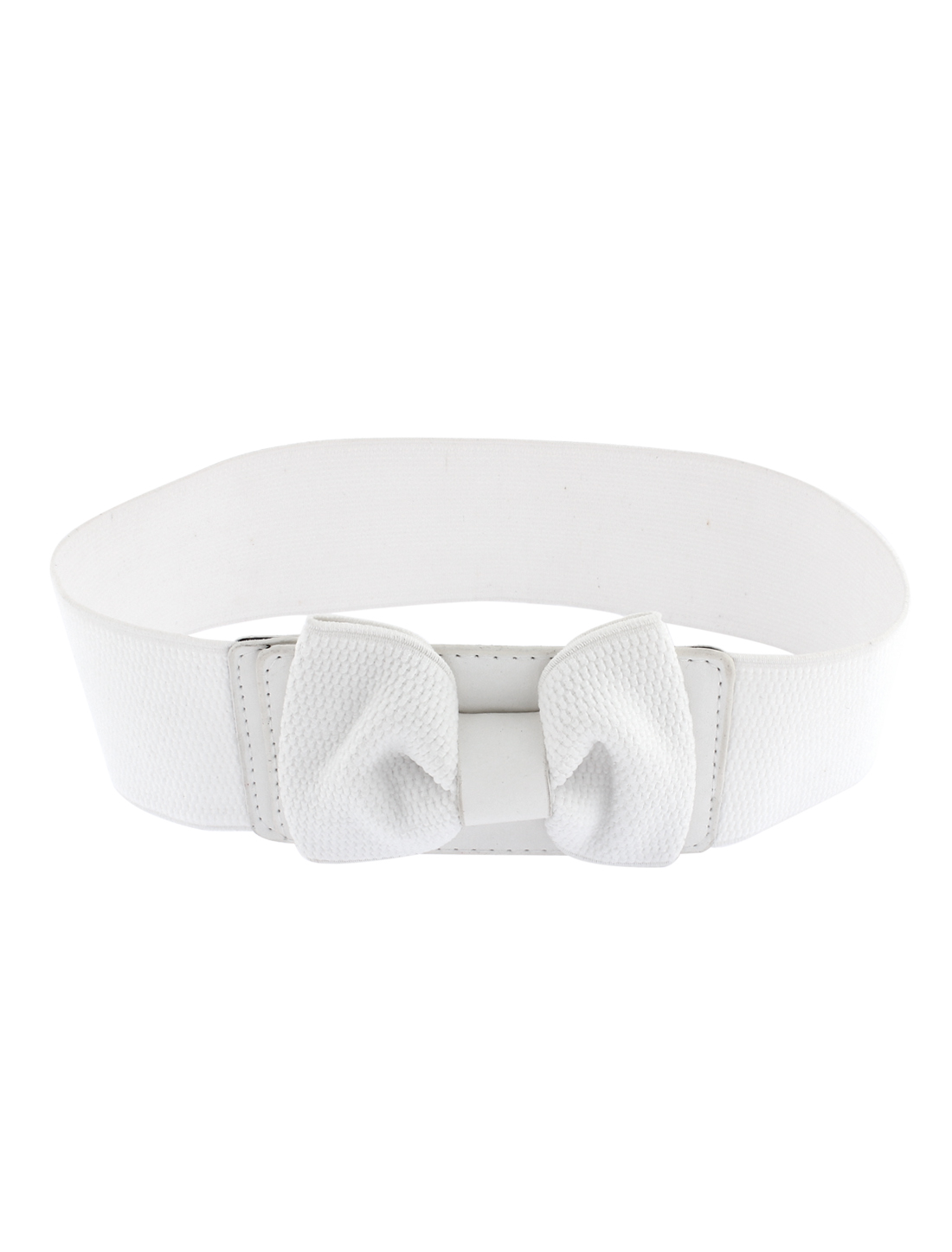 Women Bowknot Detailing Elastic Wide Stretch Buckle Waistband Waist Belt