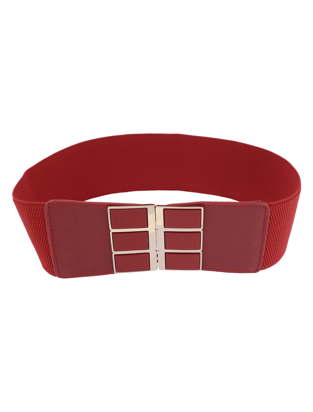 Adjustable Elastic Waistband Waist Belt 3 Inch Wide Red