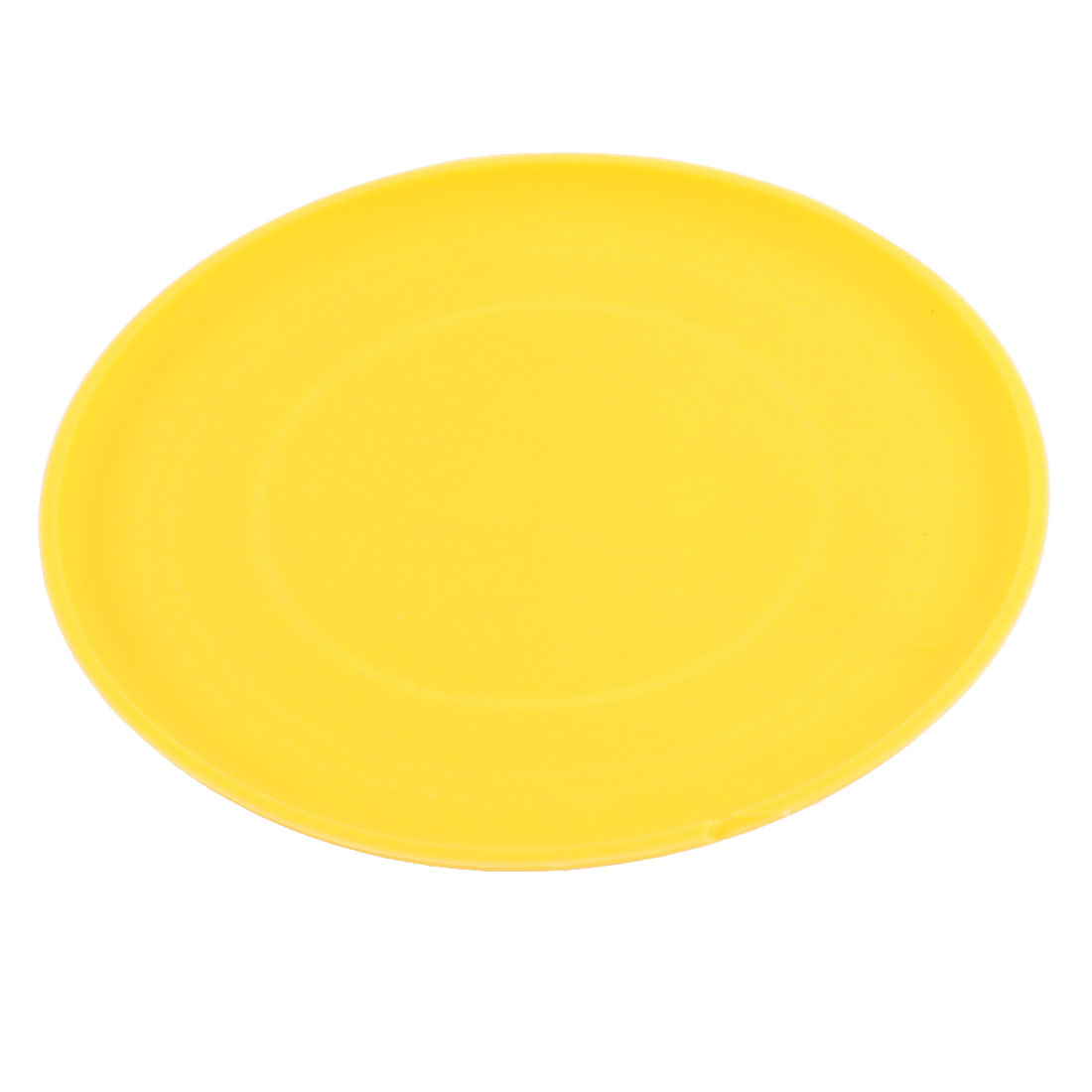 Pet Dog Puppy Training Flying Saucer Frisbee Toy Dish Plate Yellow