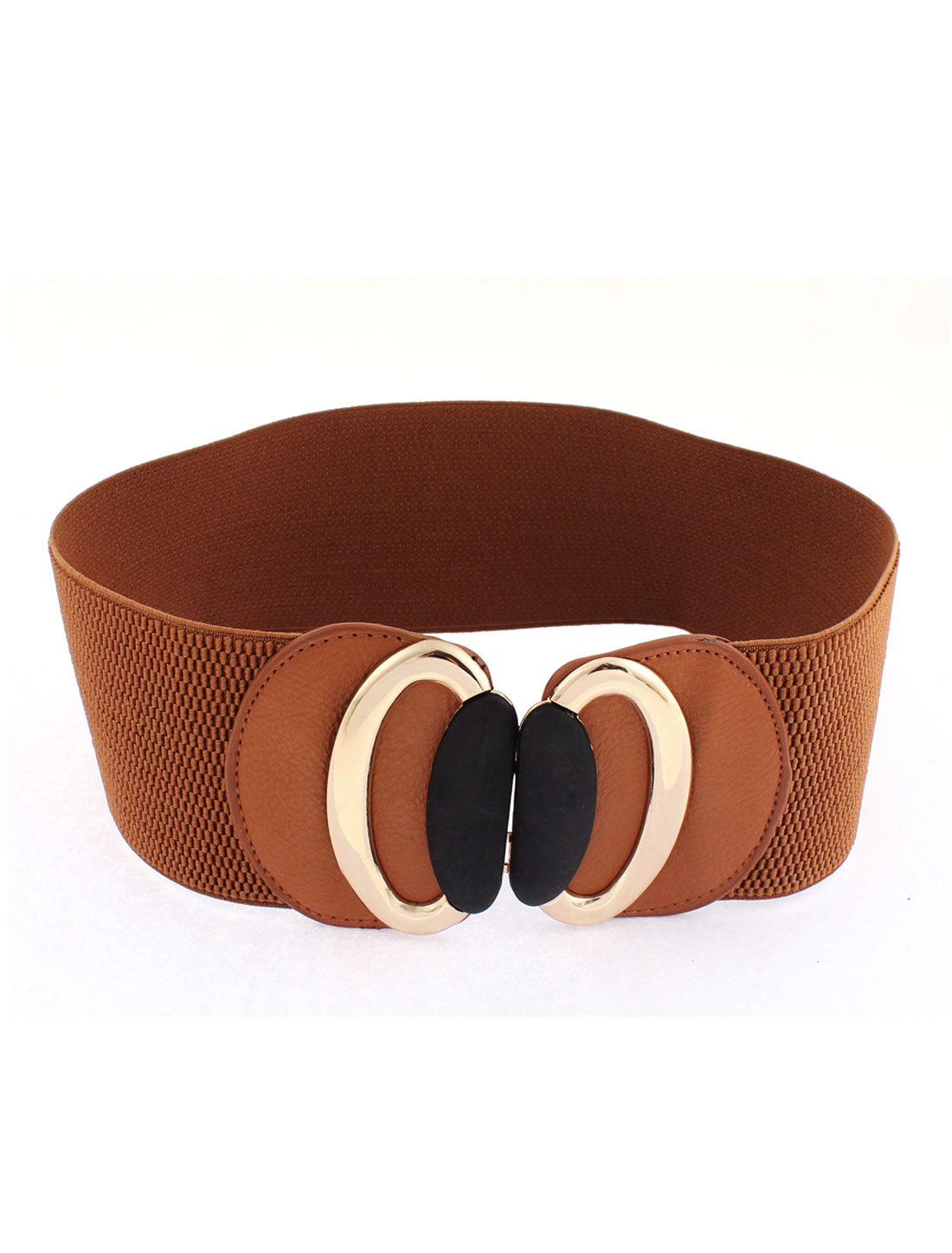 Adjustable Elastic Wide Waistband Waist Belt Camel Color for Women