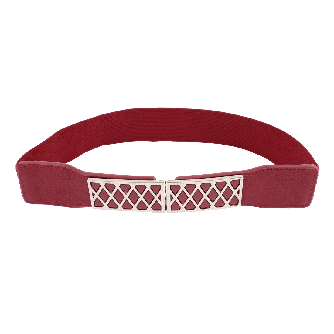 Elastic Stretch Waistband Waist Belt 61cm Long Red for Women